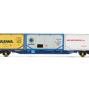 Hornby R60045 KFA Intermodal wagon in Touax livery with 3 tanktainers