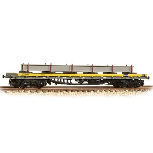 Graham Farish 377-603A 80 Tonne glw BDA Bogie Bolster Wagon Departmental Yellow
