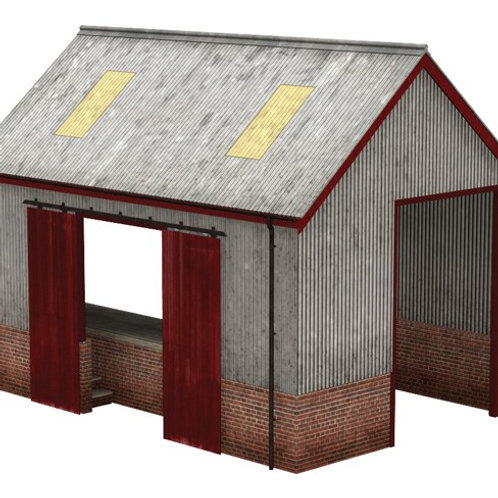 Bachmann Scenecraft 44-0022 Corrugated Iron Goods Shed