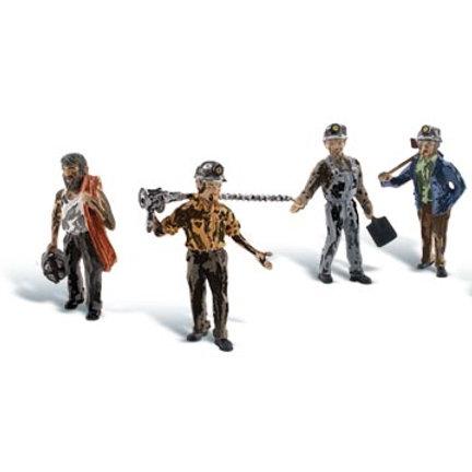 00 Gauge Figures Miners