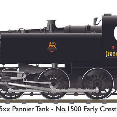 BR 15xx – No.1500 Unlined Black Early Crest