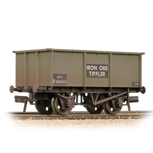 Bachmann Branchline 37-275G 27 ton steel tippler wagon in BR grey - weathered