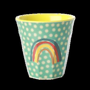 medium cup en mélamine - rainbow & stars print