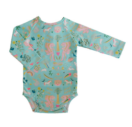 body funtastic - aqua & gold foil