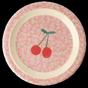 assiette en mélamine - small flowers cherry print