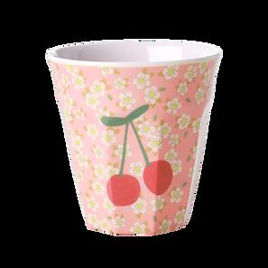 medium cup en mélamine - small flowers cherry print