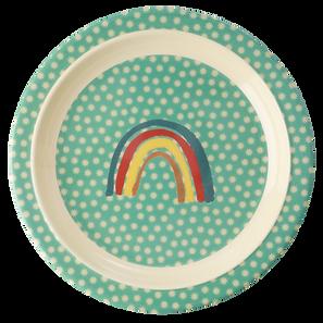 assiette en mélamine - rainbow & stars print