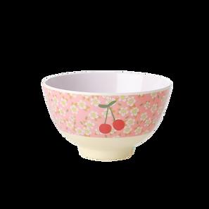 small bowl en mélamine - small flowers cherry print