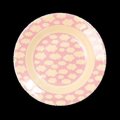assiette en mélamine - cloud print