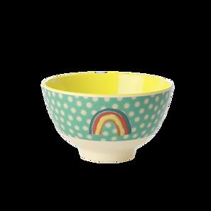 small bowl en mélamine - rainbow & stars print