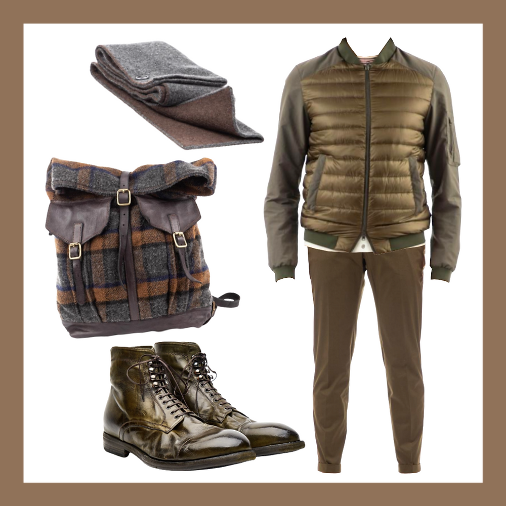 [LEMARGO] Ankle boots, [Herno] Down-nylon bimaterial jacket ,[Pt01] Stretch techno cotton gabardine with reflective ,[Moorer] Cashmere scarf with button closure ,[Campomaggi] Check pattern wool knapsackColor analysis, Four seasons color analysis, Autumn type men, Autumn color for men, Color coordinate for Autumn men, Color coordination for Autumn men, Outfit ideas for Autumn men, The best outfit ideas for Autumn men, Outfit tips for Autumn men, Best colors for Autumn men, Best suits colors for Autumn men, Best shirts colors for Autumn men, Color chart for Autumn men, Spring outfit ideas for Autumn men, Summer outfit ideas for Autumn men, Autumn outfit ideas for Autumn men, Winter outfit ideas for Autumn men