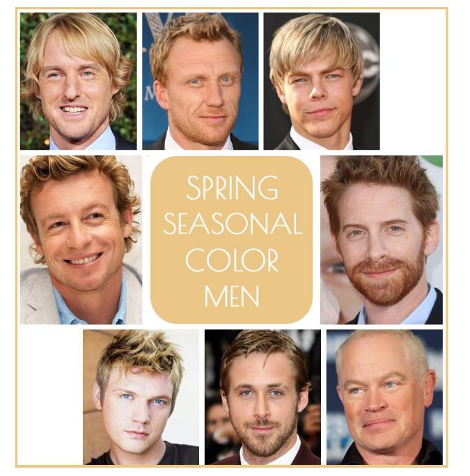 Spring seasonal color men, spring color men, spring color, spring seasonal color