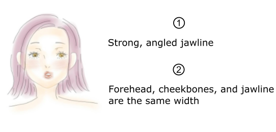 Square shaped face, hair styles for Square shaped face, Strong, angled jawline, Forehead, cheekbones and jawline are the same width
