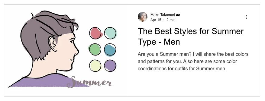 The best styles for Summer seasonal color men, Summer men outfits, Outfits ideas for Summer men, Seasonal color analysis summer men