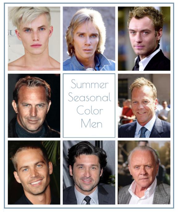 Summer seasonal color men, summer color men, summer color, summer seasonal color