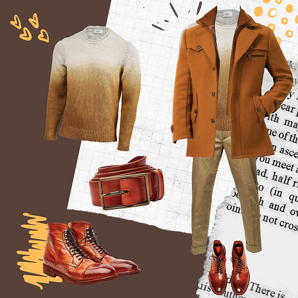 Winter outfit idea for Spring men