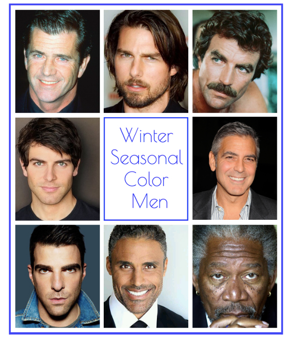 winter seasonal color men, winter color men, winter color, winter seasonal color