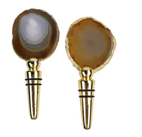 Agate Wine Stopper
