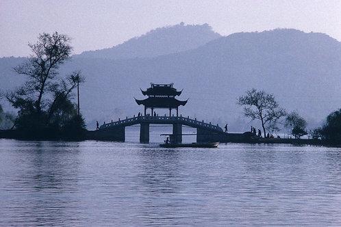 Lac de Hangzhou, chine, 1988