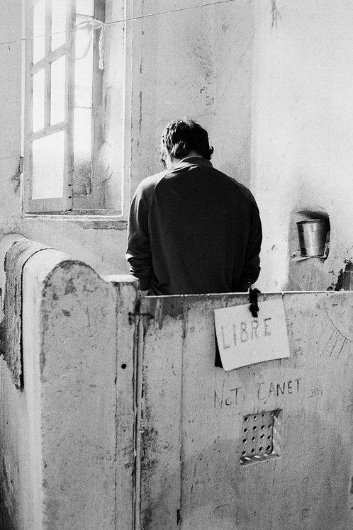 Prison de Perpignan, les toilettes, 1984