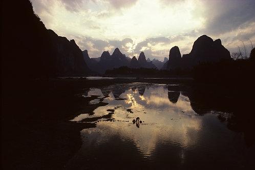 Rivière Li, province du Guangxi, Chine, 1987