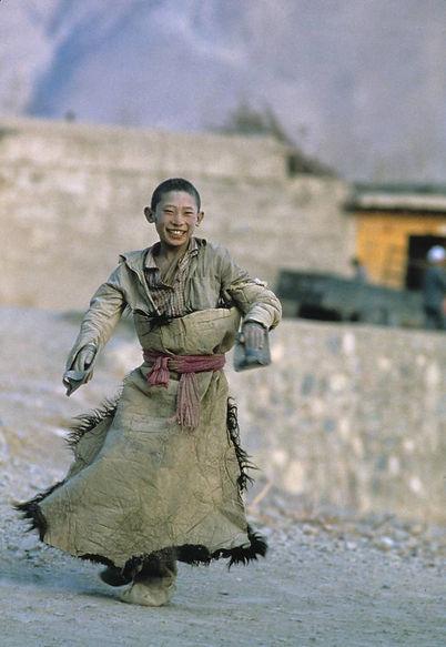Enfant tibétain, Chine, 1986