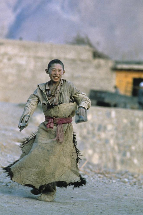 Enfant tibétain, province du Qinghai, Chine, 1987