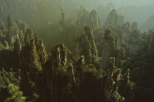 Monts zhang Jia Jie, province du Hunan , Chine, 1992