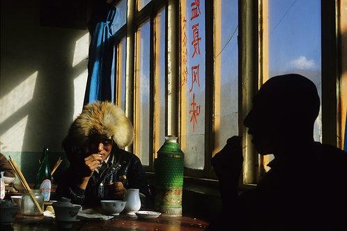 Village de Xiahe, province du Gansu, Chine, 1987