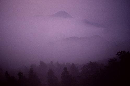 Montagne Hengshan sous la brume, Chine, 1992