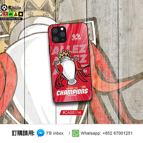 CASE114 ALLEZ 英超獎盃  鋼化玻璃電話套