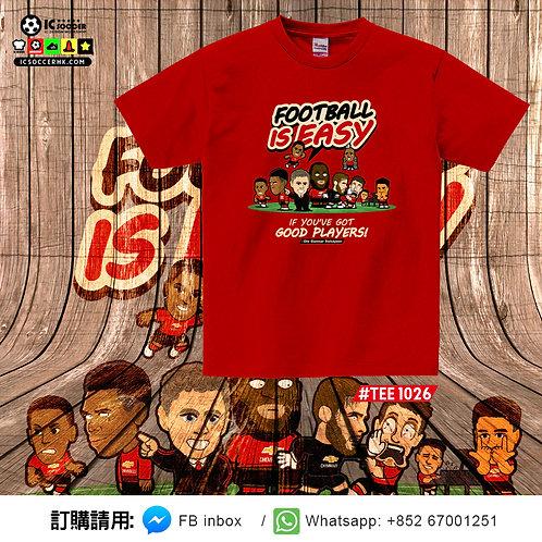 #TEE1026  Good Players Tee (紅色)