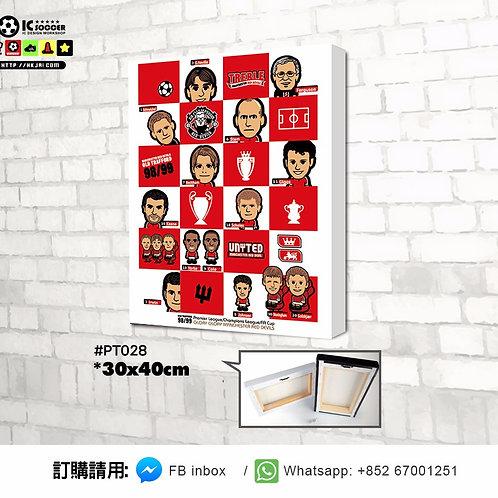 PT028 三冠王 TREBLE 木框掛畫