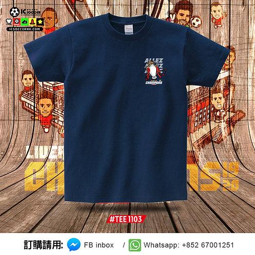 TEE1103 - TEE1106 ALLEZ 英超獎盃 TEE - 深藍色 / 白色 / 酒紅色 / 紫色