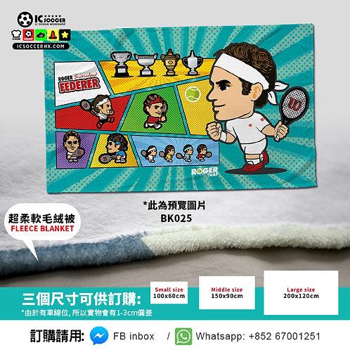 BK025 網球 費天王   超柔軟絨毛毯 FLEECE BLANKET
