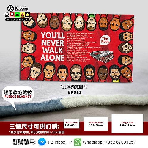 BK012 利記 Full Team THE REDS 超柔軟絨毛毯 FLEECE BLANKET