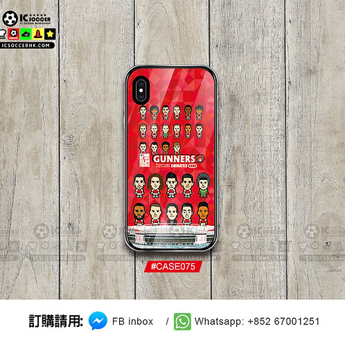 CASE075  兵工廠全陣容 鋼化玻璃電話套