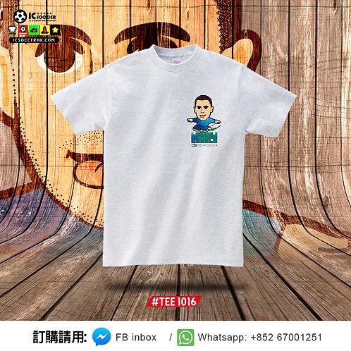 #TEE1016 夏神 Tee (白灰色)