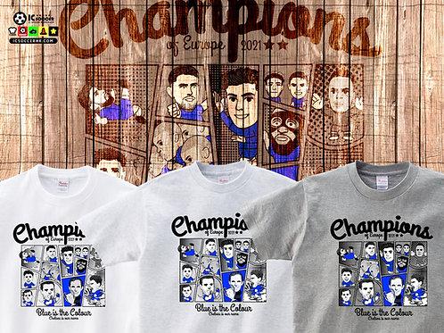 TEE1150-1152  車仔 Champions Tee - 白色 / 白灰色 / 花灰色