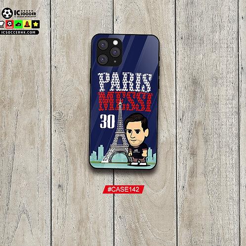 CASE142 PARIS MESSI 30 鋼化玻璃電話套