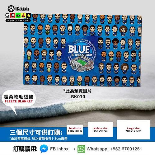BK010 車仔Full Team THE BLUES 超柔軟絨毛毯 FLEECE BLANKET