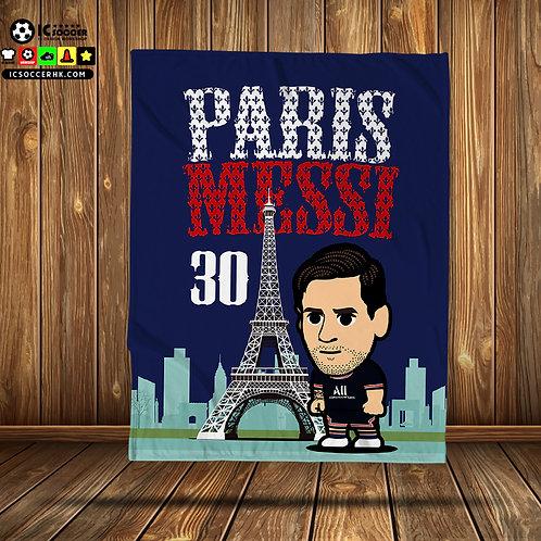 BK056 PARIS MESSI 30 超柔軟絨毛毯 FLEECE BLANKET