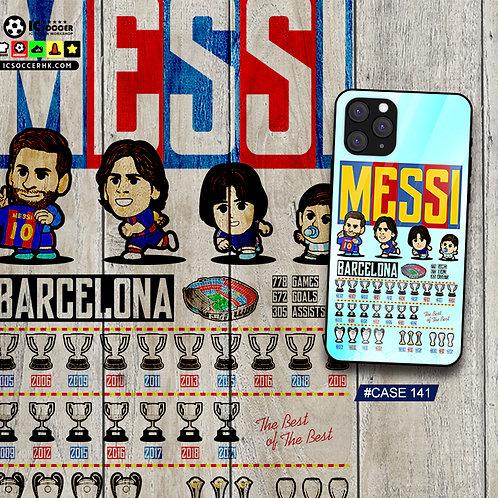 CASE141 MESSI 鋼化玻璃電話套
