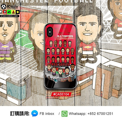 CASE104 紅魔 新球季2019全隊 鋼化玻璃電話套