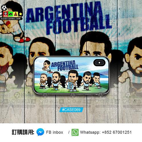 CASE069 阿根廷 鋼化玻璃電話套