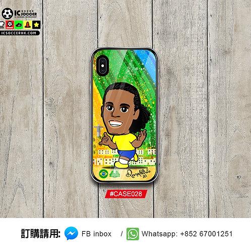 #CASE028 巴西朗拿甸奴 鋼化玻璃電話套