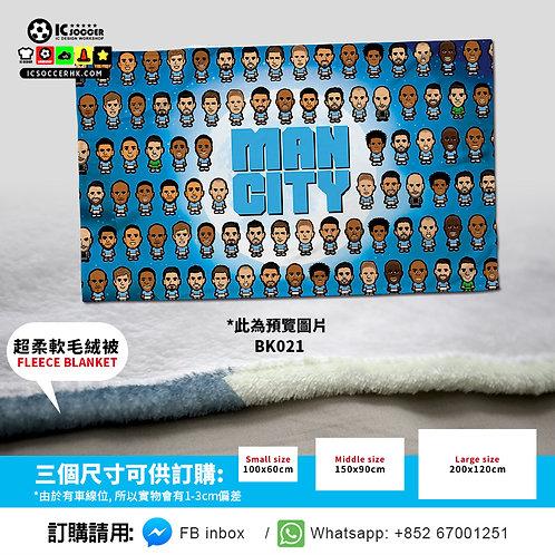 BK021 藍月亮 Full Team  超柔軟絨毛毯 FLEECE BLANKET