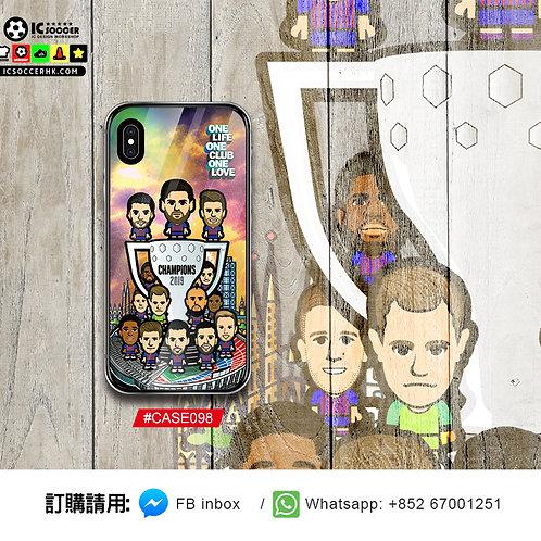 CASE098 巴塞冠軍 鋼化玻璃電話套