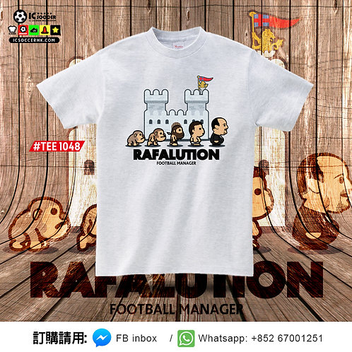 TEE1048 RAFALUTION Tee - 白灰色