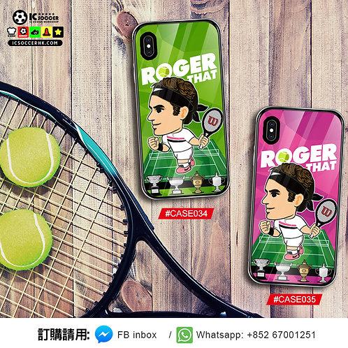 #CASE034/035 費天王 ROGER THAT 鋼化玻璃電話套
